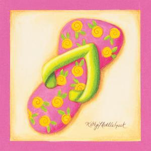 Pink Flip Flop III by Kathy Middlebrook