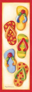 Red Flip Flop Group by Kathy Middlebrook