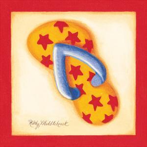 Red Flip Flop I by Kathy Middlebrook