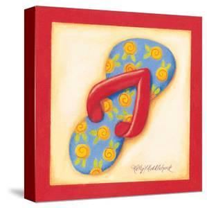 Red Flip Flop IV by Kathy Middlebrook