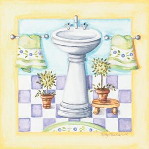 Yellow Bathroom Sink by Kathy Middlebrook