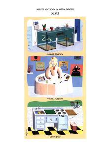 Desks'-Fish tanks - New Yorker Cartoon by Kathy Osborn