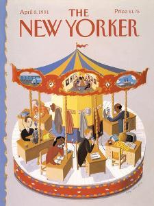 The New Yorker Cover - April 8, 1991 by Kathy Osborn