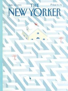 The New Yorker Cover - January 28, 1991 by Kathy Osborn