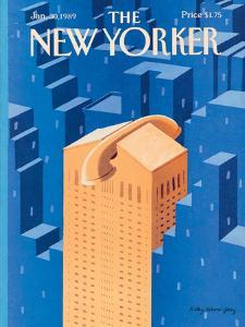 The New Yorker Cover - January 30, 1989 by Kathy Osborn