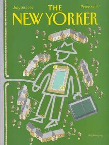 The New Yorker Cover - July 20, 1992 by Kathy Osborn