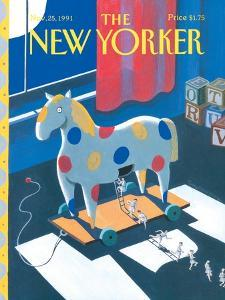 The New Yorker Cover - November 25, 1991 by Kathy Osborn