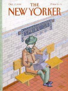 The New Yorker Cover - October 17, 1988 by Kathy Osborn