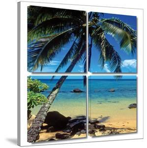 Beautiful Smini Beach 4 piece gallery-wrapped canvas by Kathy Yates