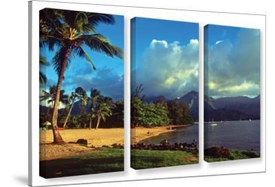Golden Light On Hanalei, 3 Piece Gallery-Wrapped Canvas Set