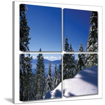 Lake Tahoe in Winter 4 piece gallery-wrapped canvas