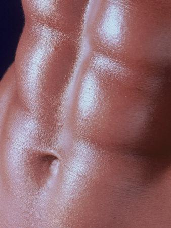 Detail of a Man's Abdominal Muscles