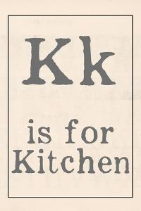 K is for Kitchen by Katie Doucette