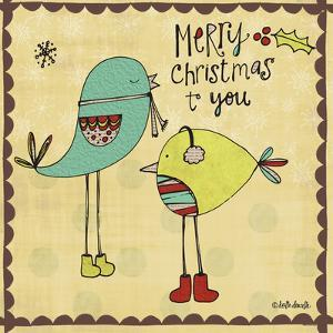 Merry Christmas Birds by Katie Doucette