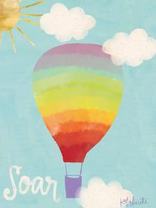 Rainbow Hot Air Balloon by Katie Doucette