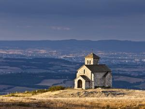 France, Tarn, Dourgne; the Tiny Chapelle De St Ferreol on a Crest Above the Village of Dourgne by Katie Garrod
