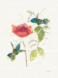 Teal Hummingbirds II Flower by Katie Pertiet