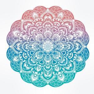 Paisley Floral Mandala Illustration. by Katja Gerasimova