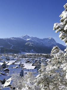 Cityscape of Garmisch-Partenkirchen, Werdenfelser Land, Bavaria, Germany by Katja Kreder