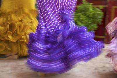 Flamenco Dancers, Feria Del Caballo in Jerez De La Frontera, Andalusia, Spain