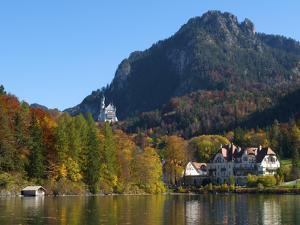 Neuschwanstein Castle Ans Lake Alpsee, Allgaeu, Bavaria, Germany by Katja Kreder