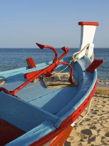 Traditional Fishing Boats, Algarve, Portugal by Katja Kreder