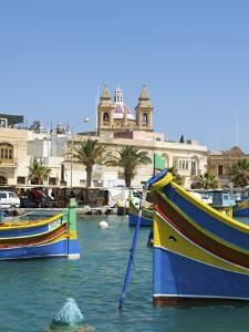 Traditional Fishing Boats, Marsaxlokk, Malta by Katja Kreder