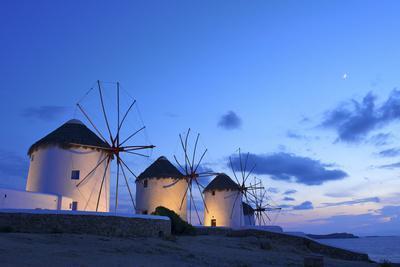 Windmills Kato Mili, Mykonos-Town, Mykonos, Cyclades, Greece