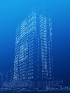 Architectural Sketch of High-Rise Building by katritch