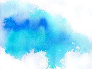 Blue Spot, Watercolor Abstract Hand Painted Background by katritch