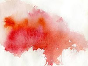 Red Spot, Watercolor Abstract Hand Painted Background by katritch