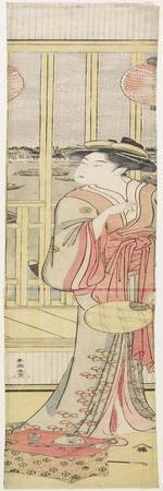 Courtesan Hanao Gi Cooling Herself, C. 1788