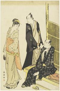 Ichikawa Monnosuke Ii, Onoe Matsusuke at a Teahouse, C. 1780-1795 by Katsukawa Shuncho