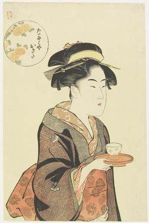 Waitress Okita of Naniwaya Teahouse, 1792-1793
