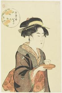 Waitress Okita of Naniwaya Teahouse, 1792-1793 by Katsukawa Shuncho