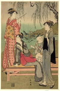 Yanagi No Niwa by Katsukawa Shuncho