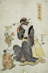 A Marionette Play' (From the Series 'Children's Amusement), C1806-C1823 by Katsukawa Shunsen