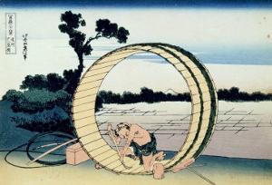 36 Views of Mount Fuji, no. 10: Fujimigahara in the Owari Province by Katsushika Hokusai