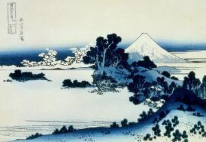36 Views of Mount Fuji, no. 13: Shichiri Beach in Sagami Province by Katsushika Hokusai