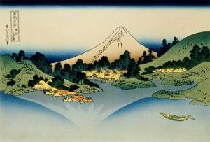 36 Views of Mount Fuji, no. 35: Reflected in Lake Kawaguchi, Seen from the Misaka Pass, Kai Provinc by Katsushika Hokusai