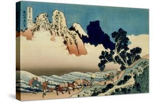 36 Views of Mount Fuji, no. 42: The Back of the Fuji from the Minobu River by Katsushika Hokusai