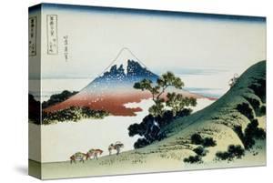 36 Views of Mount Fuji, no. 9: Inume Pass in the Kai Province by Katsushika Hokusai