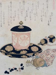 A Pot of Tea and Keys, 1822 by Katsushika Hokusai