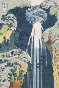 Amida Waterfall on the Kiso Highway, from series 'A Journey to the Waterfalls of all the Provinces' by Katsushika Hokusai
