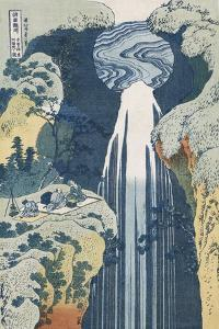 Amida Waterfall on the Kiso Highway by Katsushika Hokusai