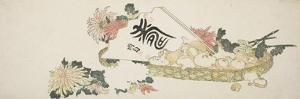An Autumn Gift by Katsushika Hokusai