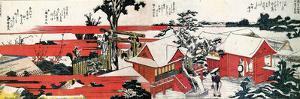 At the Shore of the Sumida River by Katsushika Hokusai