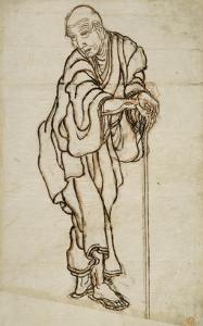 Autoportrait sous l'aspect d'un vieillard by Katsushika Hokusai