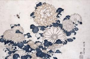 Bee and Chrysanthemums, from the Series Big Flowers by Katsushika Hokusai