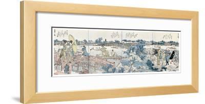 Bookplates of Landscape Scenes from the Ehon Sumidagawa Ryogan Ichiran